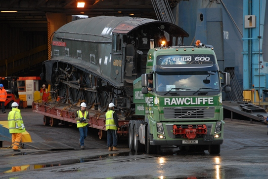 JB Rawcliffe Moving Train