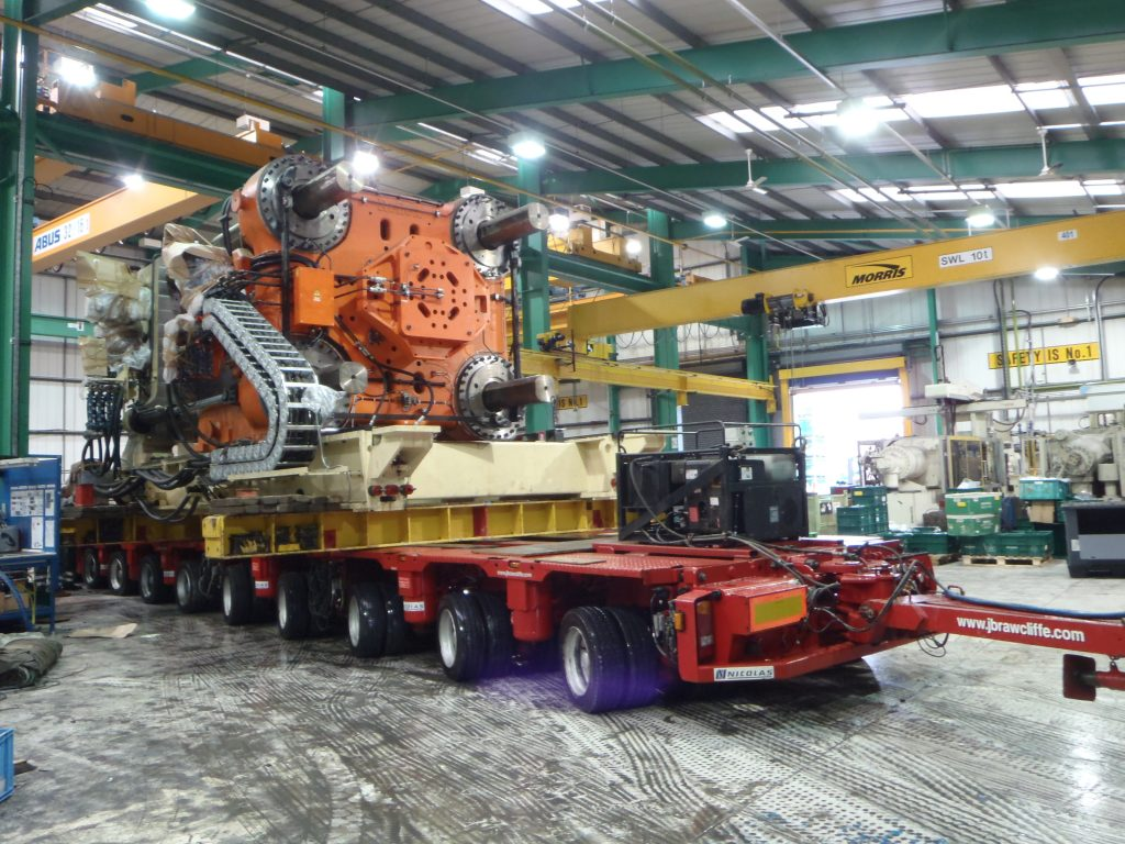 Machinery Removal from factory - Specialists - JB Rawcliffe